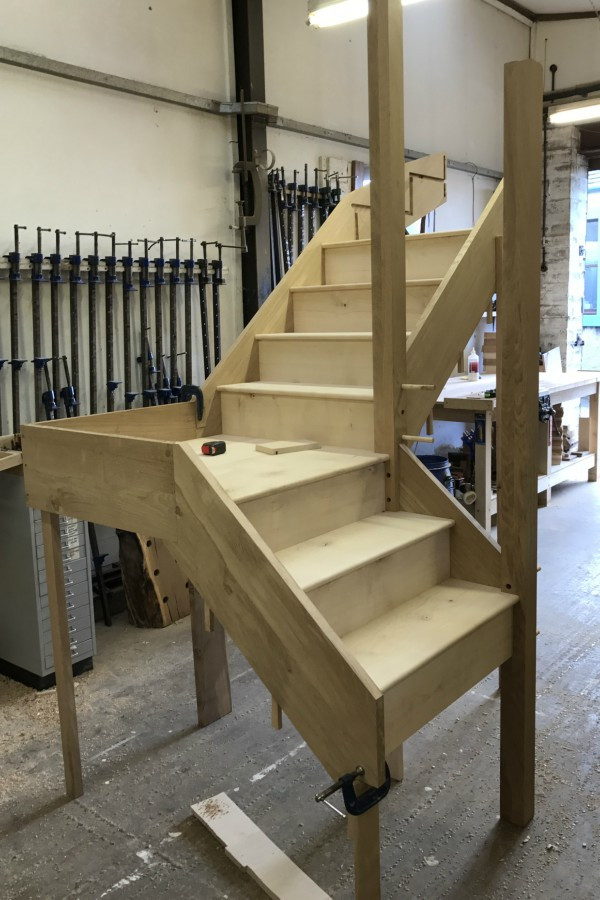 Staircase Being Made